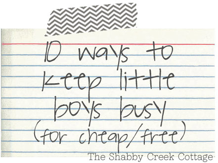 10 ways to keep little boys busy