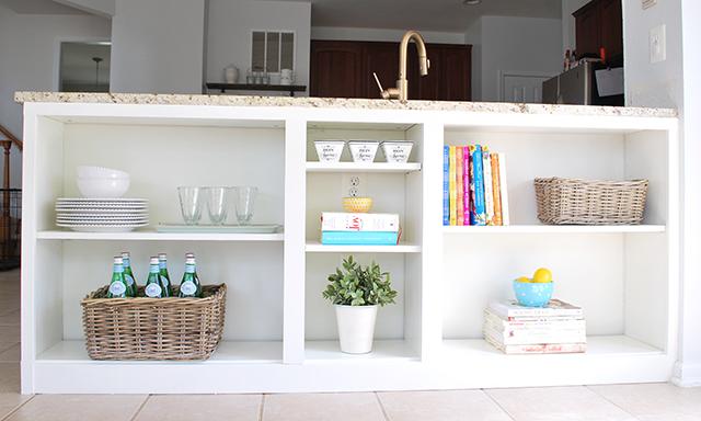 Billy bookcase to kitchen bookshelves
