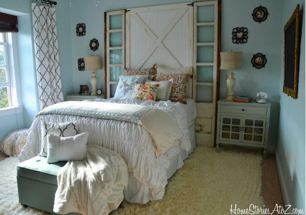 Western Inspired Room Love The Headboard With Old Doors: DIY Headboard