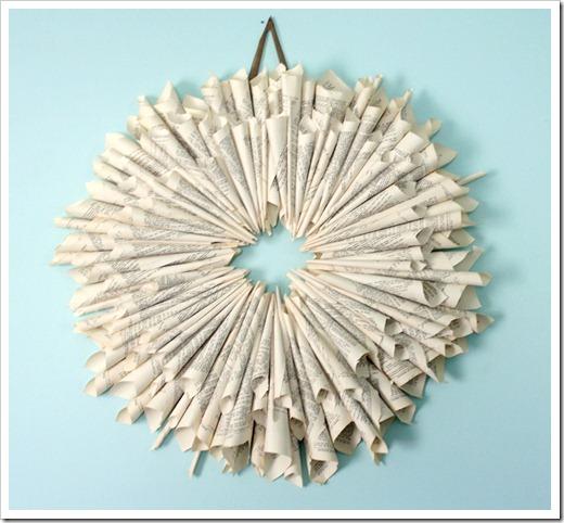 Make a Book Page Wreath