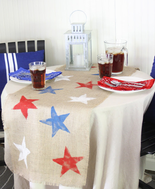 diy patriotic table runner