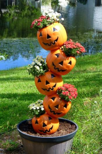 Tipsy Pumpkins Planter