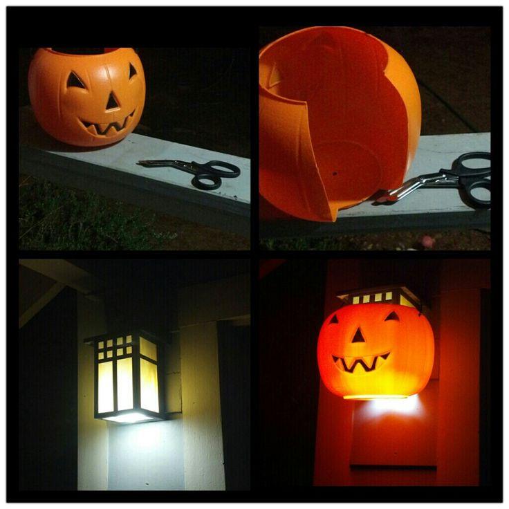 Plastic Pumpkin Porch Light