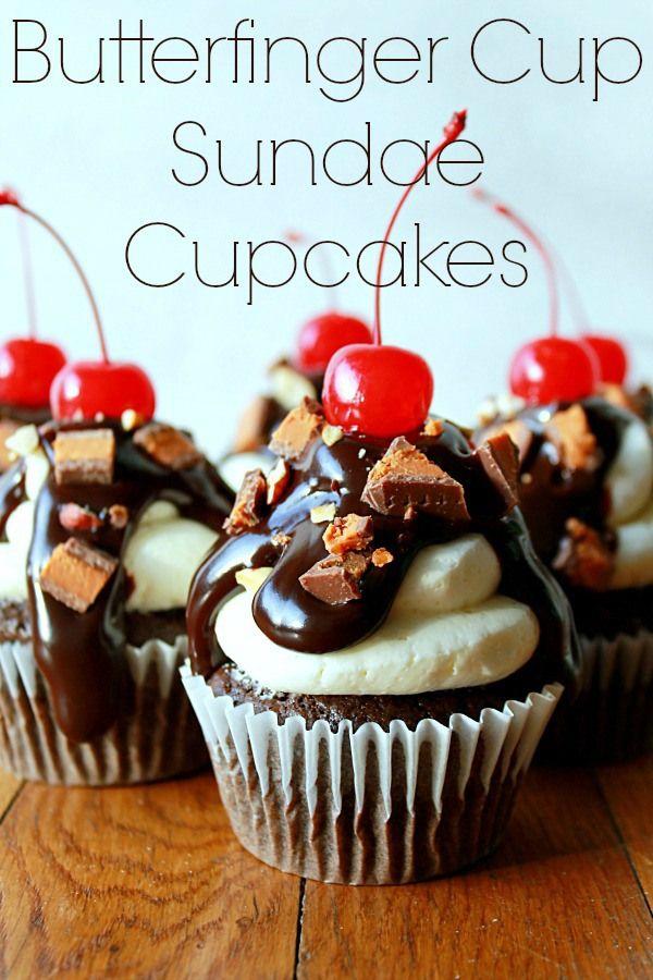 butterfinger cup sundae cupcakes