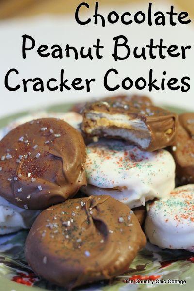 Chocolate Cracker Cookies