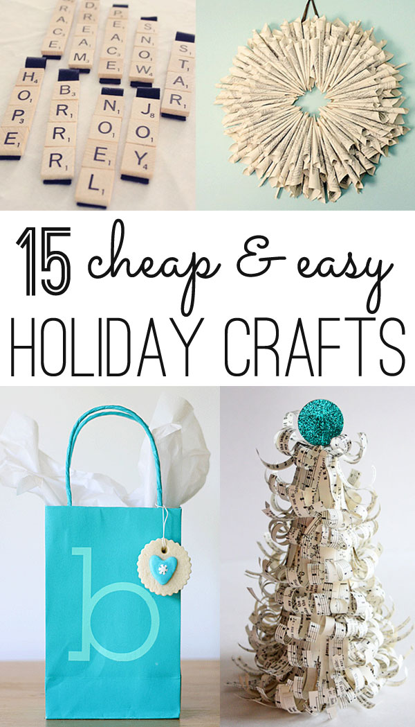 cheap & easy Christmas crafts