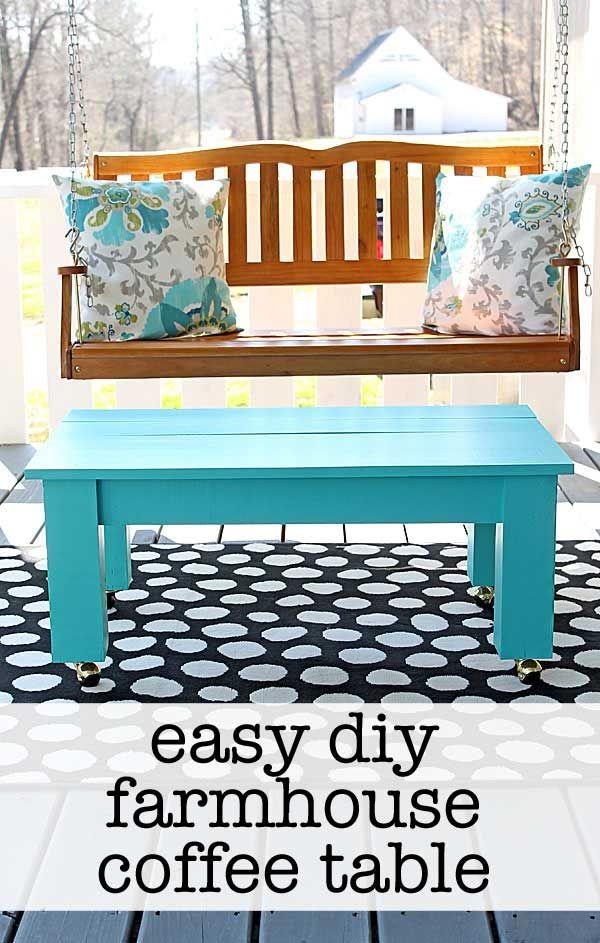 easy diy farmhouse coffee table