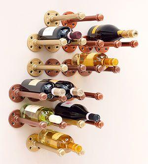 diy pipe wine rack