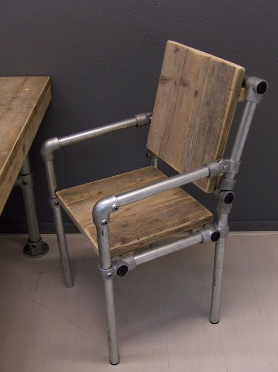 pipe and pallet chair