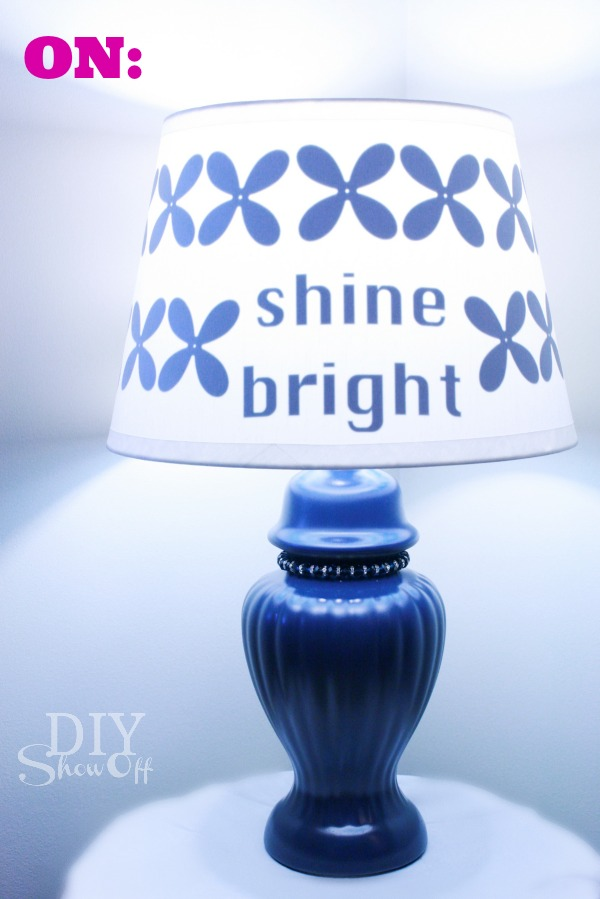 Vinyl Lampshade Makeover