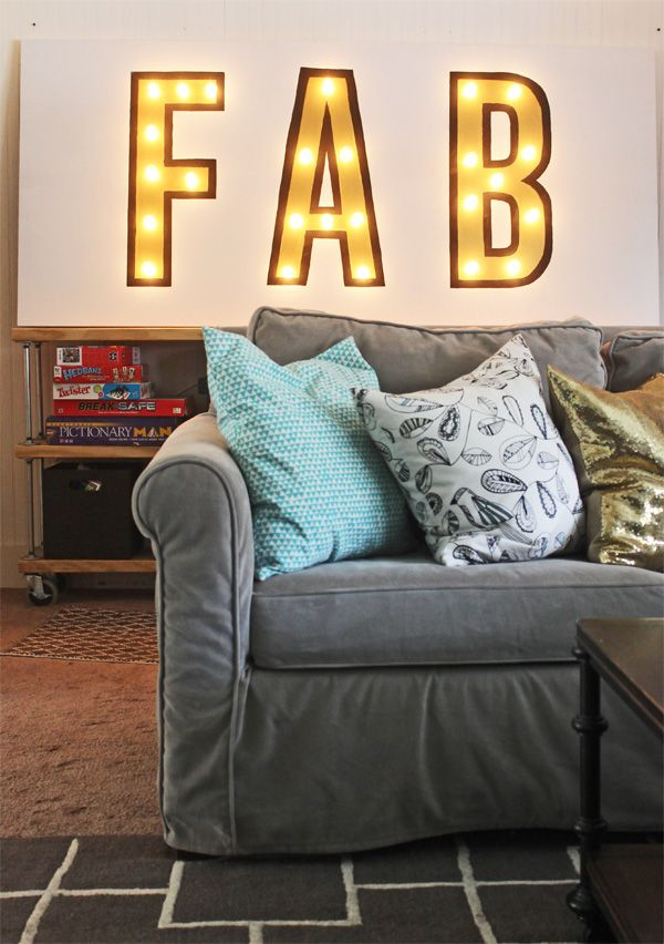 diy custom lighted marquee sign