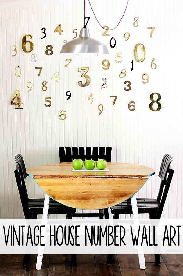 vintage house number wall art