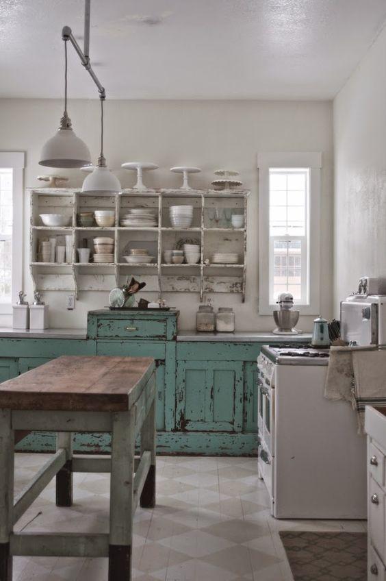 Farmhouse kitchens with fixer upper style - Decoracion cocinas estilo vintage ...