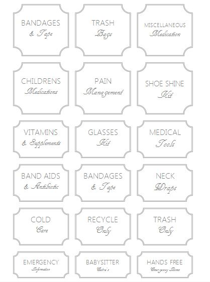 Bright image in free printable pantry labels