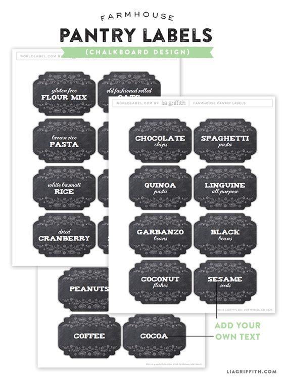 printable farmhouse design labels