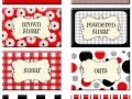 retro in red printable labels