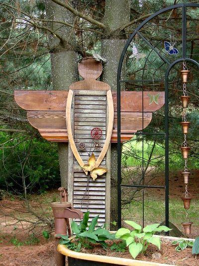 Shutter Garden Angel