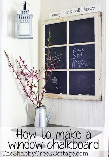 chalkboard window