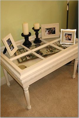 recycled window table