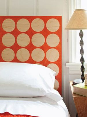 hip polka dot headboard