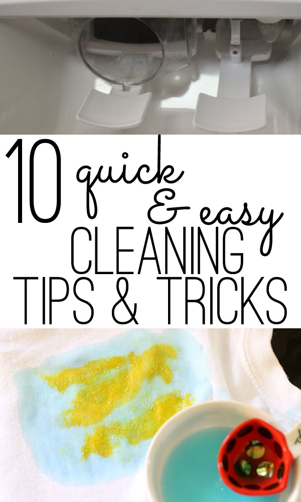 quick and easy cleaning tips & tricks