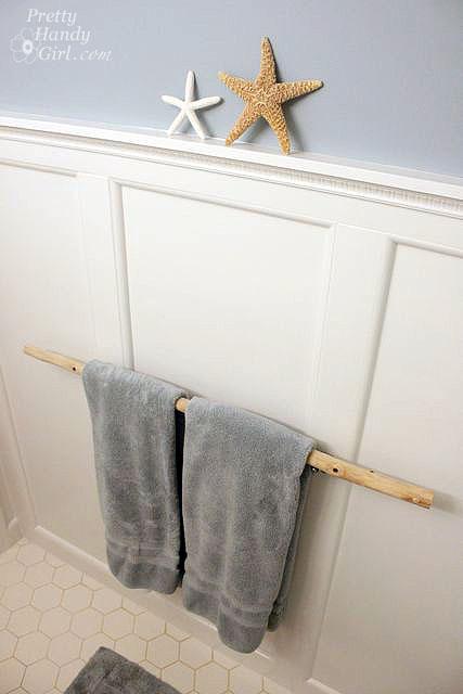 Diy branch towel holder