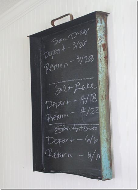 Industrial Style Chalkboard