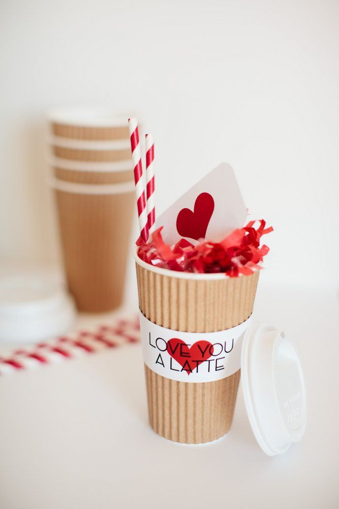love you a latte valentine idea