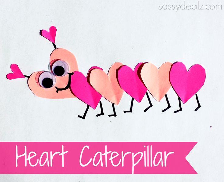 valentines day heart caterpillar