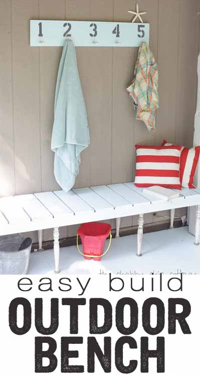 Love this outdoor bench - looks so easy to build!