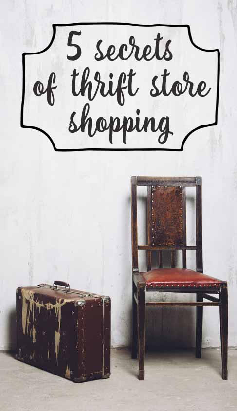 Thrift store secrets (to shop like a pro)