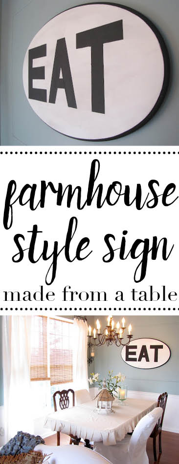 This is such a great upcycling idea - make a sign from a coffee table