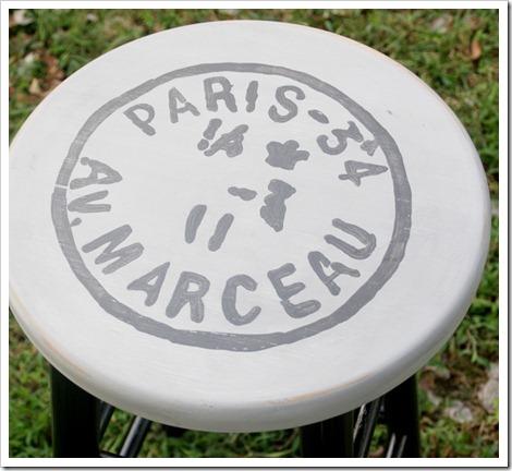 Paris Postmark Barstool Makeover