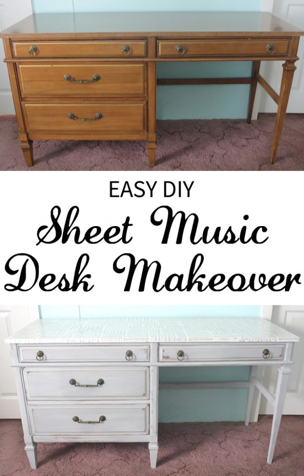 Great thrift store upcycle - a sheet music desk!