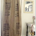 coffee sack curtain