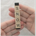 scrabble ornament