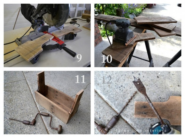 Adding this idea to my list: repurposing junk into pretty tool boxes