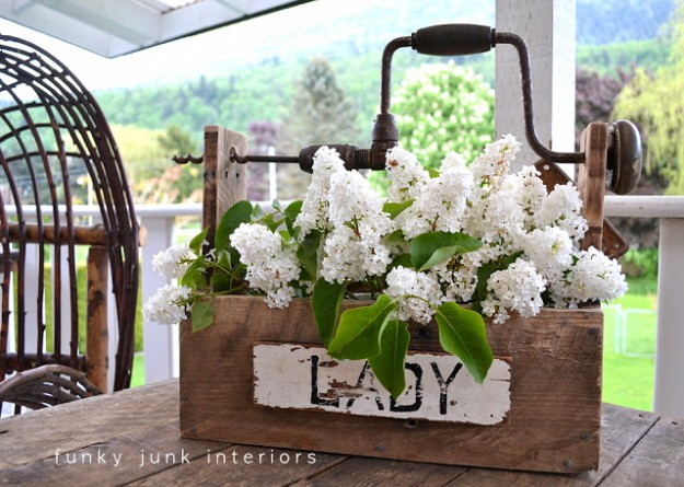I love this idea - repurposing junk into pretty tool boxes