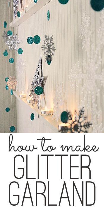 easy glitter garland