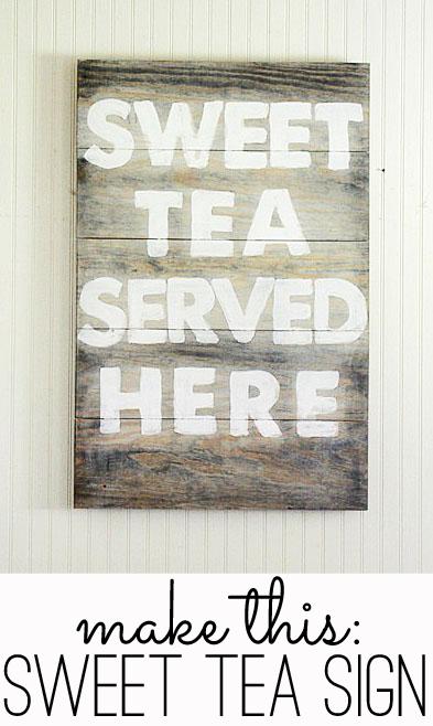 sweet tea served here sign tutorial