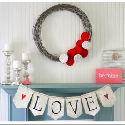 Valentine's Day Mantel Decorating Ideas