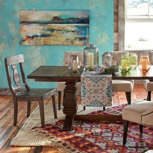Love this colorful dining room !