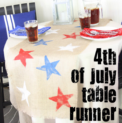 DIY table runner for the 4th of July