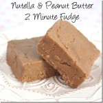 Nutella and Peanut Butter 2 Minute Fudge
