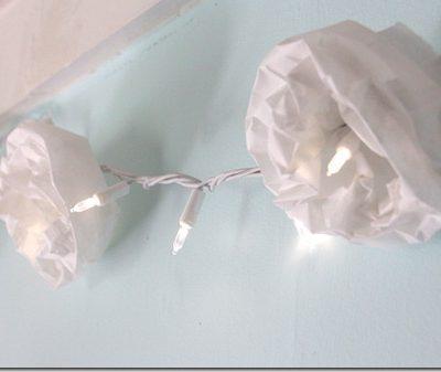 How to make: Paper Bag Flower Lights