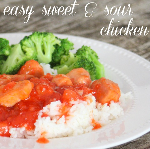 Easy sweet & sour chicken