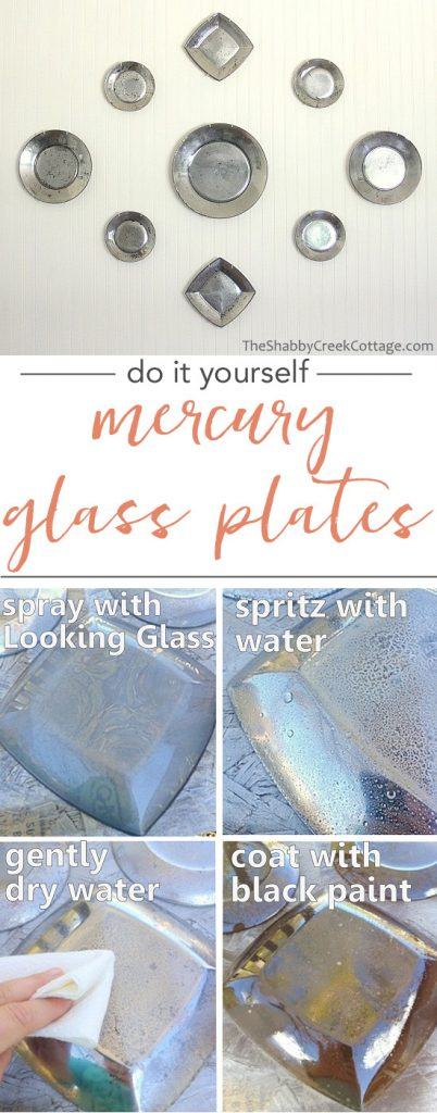 these mercury glass plates are beautiful - and they look so easy to make!