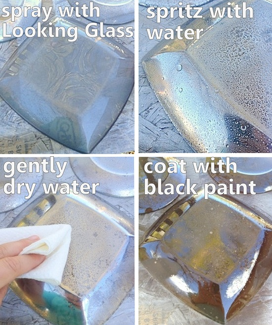 What a great craft idea - grab some plates and paint to make these mercury glass plates!