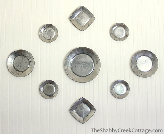 I love this idea - mercury glass plates! They'd be pretty on the wall or to use as traditional chargers!