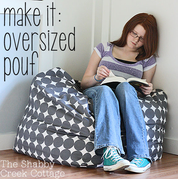 how to make an oversized floor pouf